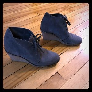 J.Crew grey suede wedges